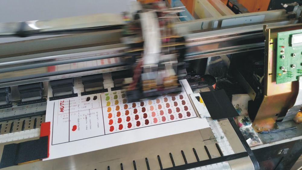 3 -mutoh 1.6 m  cu capete de printare 80 %